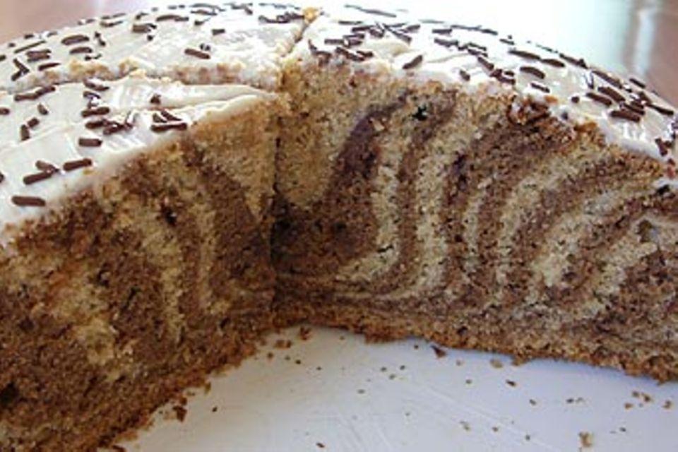 Rezept: Zebrakuchen