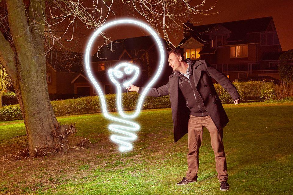 Glühbirne, Lightpaining