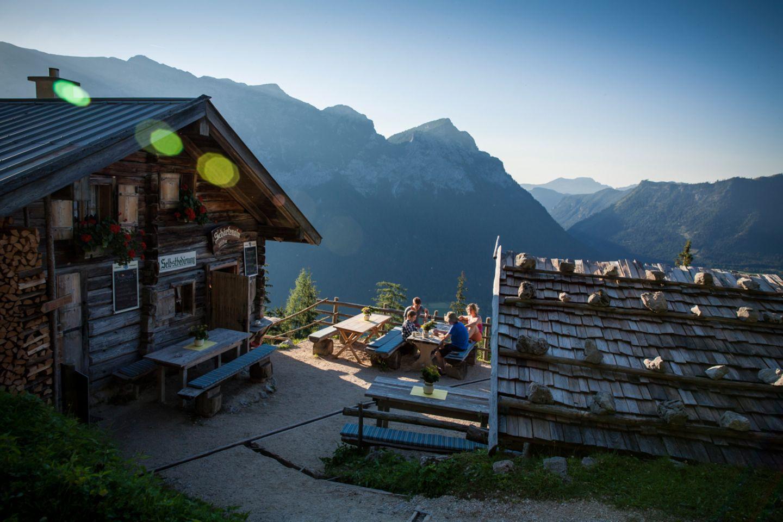 Blick auf die Schärtenalm in Bayern
