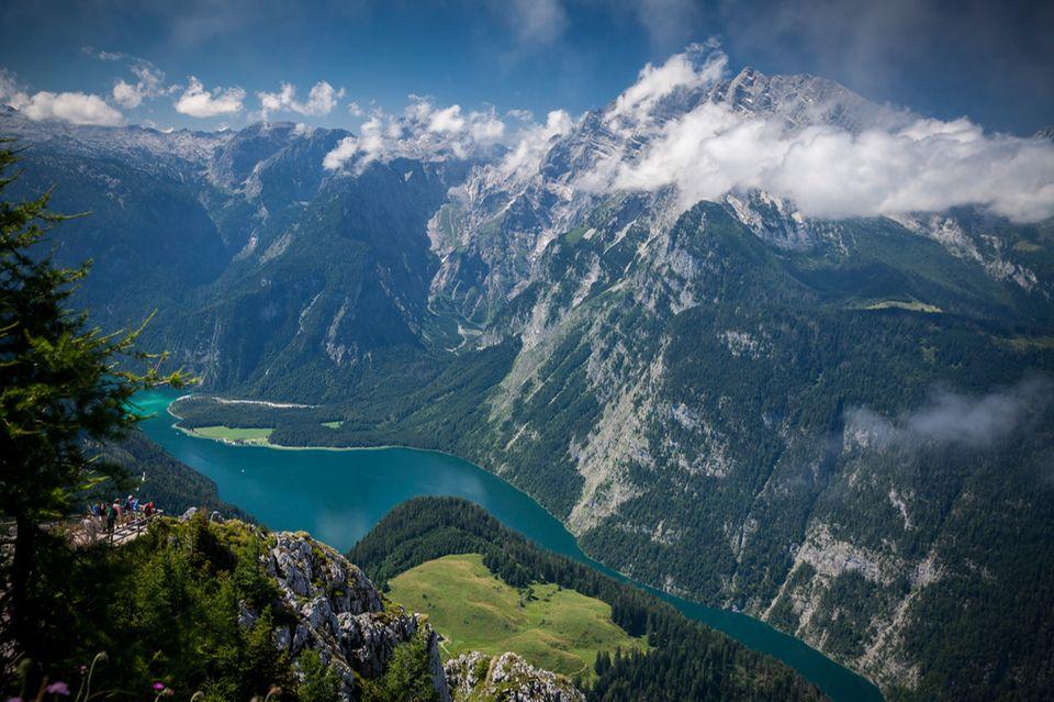 Blick auf den Königssee in Bayern