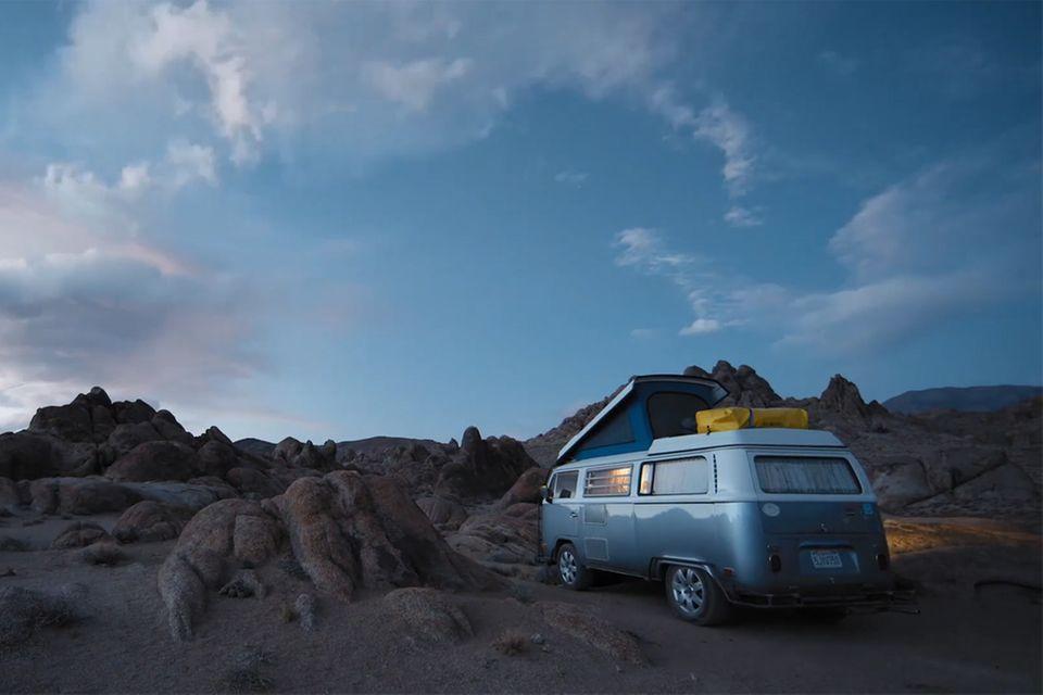 Campervan in der Wüste Arizonas