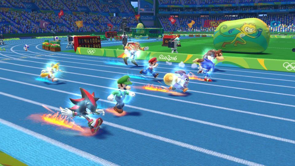 Springt bei Olympia - Mario und Sonic