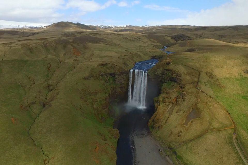 Wasserfall auf Island
