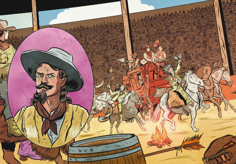 Der wilde Westen: Für den Überfall auf die Postkutsche gibt es viel Applaus! Es ist einer der Höhepunkte in den Shows von Buffalo Bill. Tausende Zuschauer verfolgen diese im 19. Jahrhundert in den großen Arenen Deutschlands