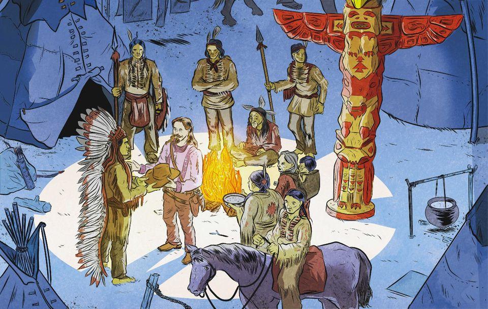 """Der wilde Westen: William Frederick Cody kämpfte in vielen Schlachten gegen die Indianer. Doch danach ändert er sich. Als Buffalo Bill heuert er sie für seine Shows an und setzt sich für sie ein. Als er 1917 stirbt, betrauern die Sioux den Verlust des """"guten Freundes"""""""