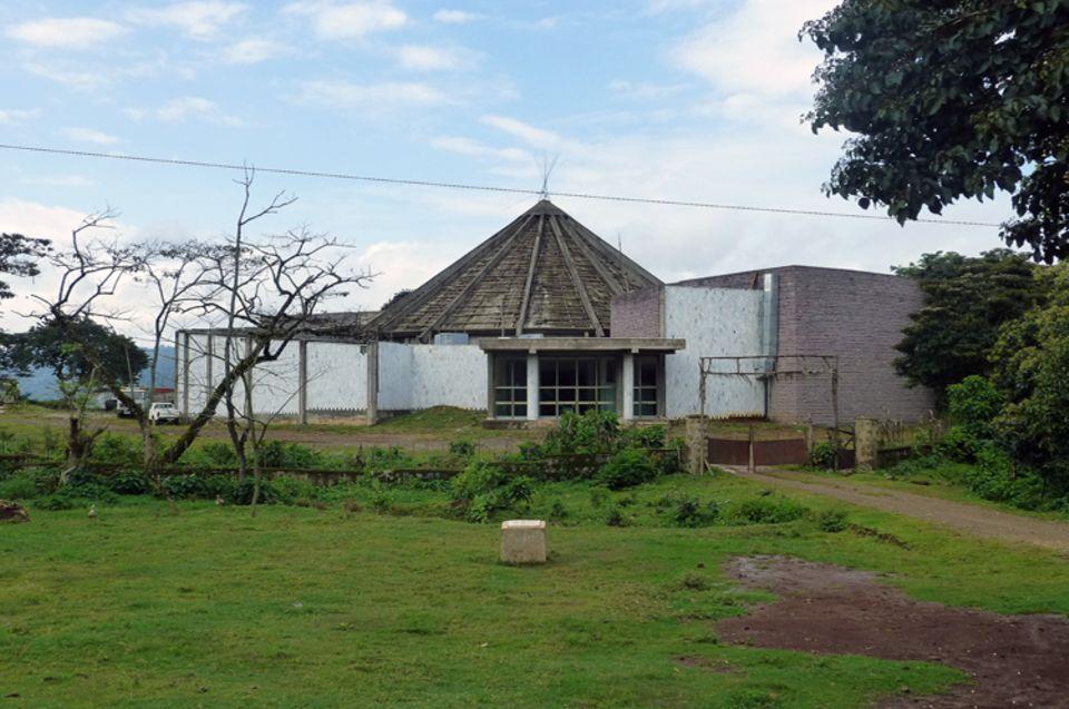 Das Kaffeemuseum in Bonga wartet im Oktober 2013 noch immer auf seine Fertigstellung - das Geld ist ausgegangen
