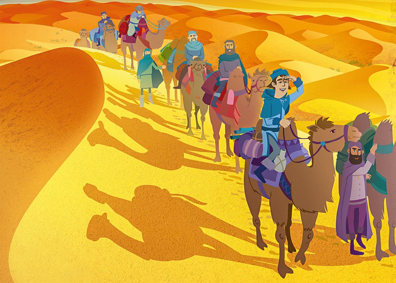 Die Reise nach China: Die Sonne brennt in der Wüste Takla Makan im Westen Chinas. Marco glaubt im Hitzewahn, dass Stimmen ihn auf den falschen Weg locken wollen