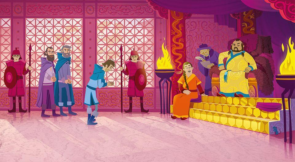 Die Reise nach China: Endlich am Ziel: Nach dreieinhalb Jahren Reise erreichen Marco, sein Vater Niccolò und sein Onkel Maffeo den Palast des mächtigen Herrschers Khubilai Khan in Shangdu