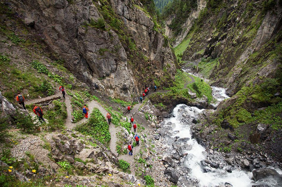 Alpenüberquerung, Wandern