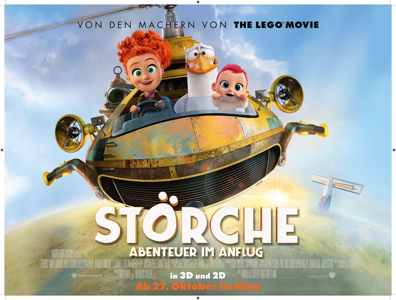 Kinoplakat: Störche im Anflug