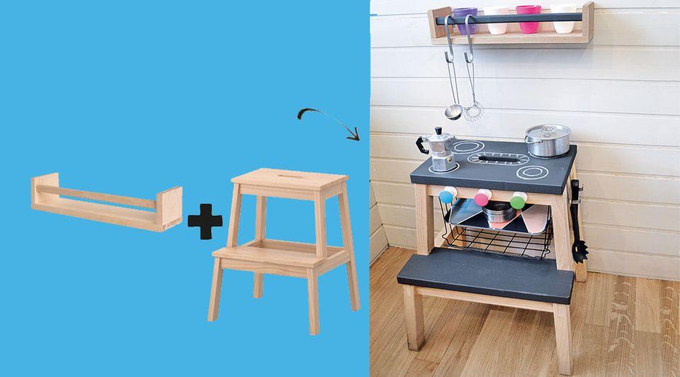 IKEA HACK Küche aus Tritthocker