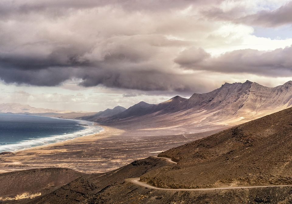 Parque Natural Jandia, Cofete Beach, Fuerteventura, Spanien