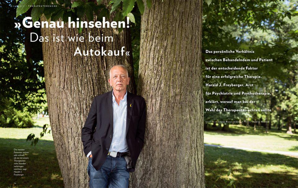 Psychotherapie: In GEO WISSEN Gesundheit erklärt Harald J. Freyberger, worauf man bei der Wahl des Therapeuten achten sollte - hier direkt bestellen