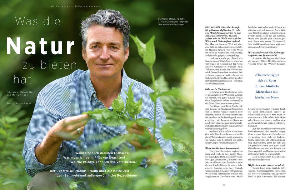 Wildpflanzen: Ob es im Winter etwas zu finden gibt und wie Einsteiger ihre ersten Wildpflanzen finden können, erklärt Dr. Markus Strauß im ausführlichen Interview in GEO Wissen Ernährung - hier direkt bestellen