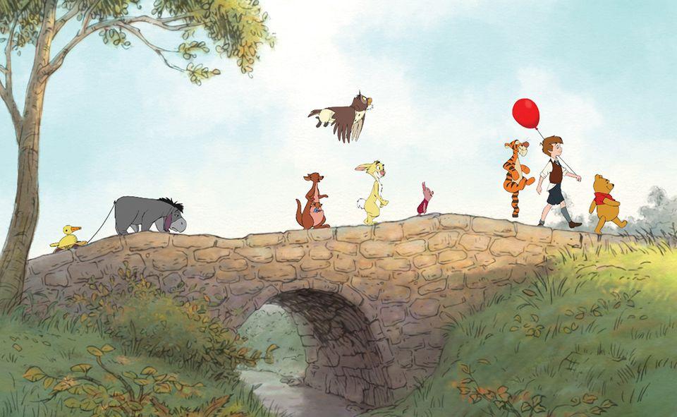Pu der Bär mit seinen Freunden im Hundertsechzig-Morgen-Wald
