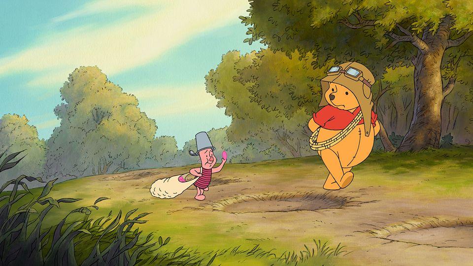 Pu der Bär und Ferkel suchen ein Heffalump