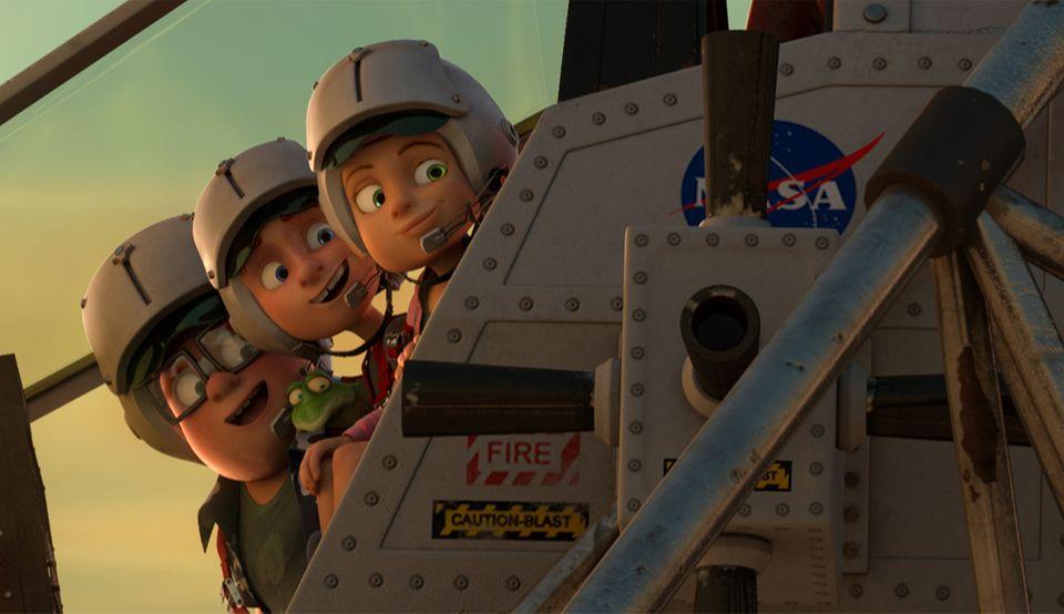 Einmal Mond und zurück - Amy, Mike und Marty an der Rakete