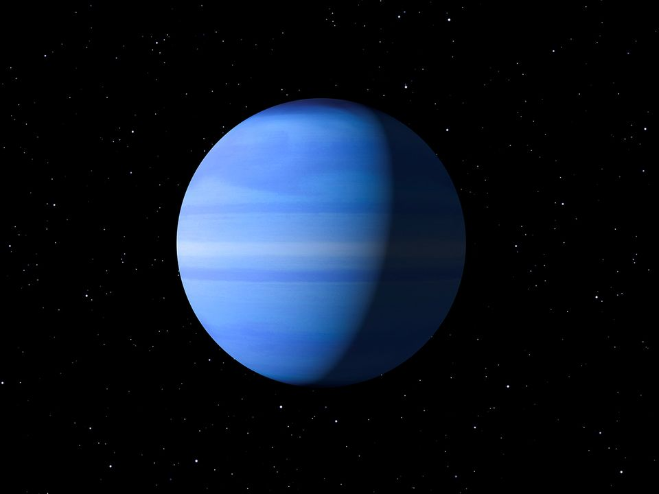 Der Uranus, blauer Planet im Sonnensystem