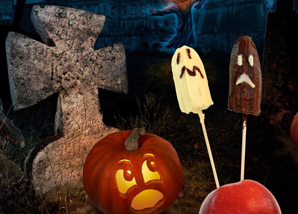 Schokobananen zu Halloween