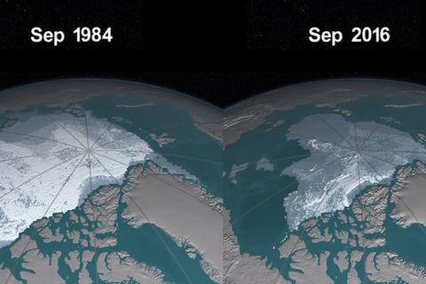 Animation der Nasa: So rasant schmilzt das Eis der Arktis