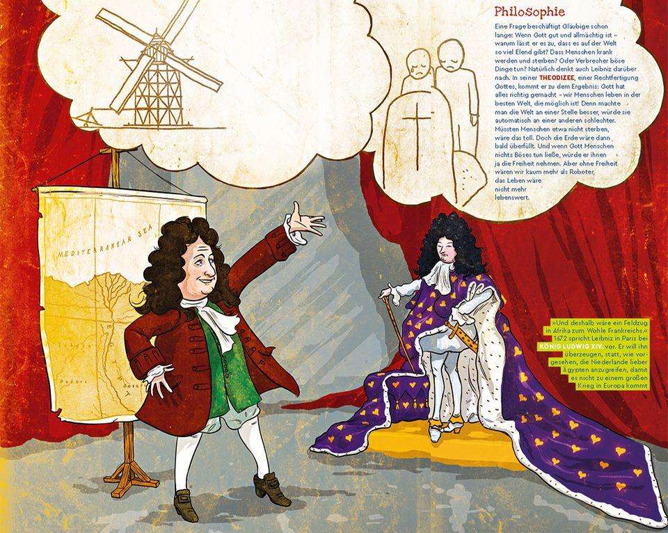 Leibniz mit Ludwig dem Vierzehnten in Paris