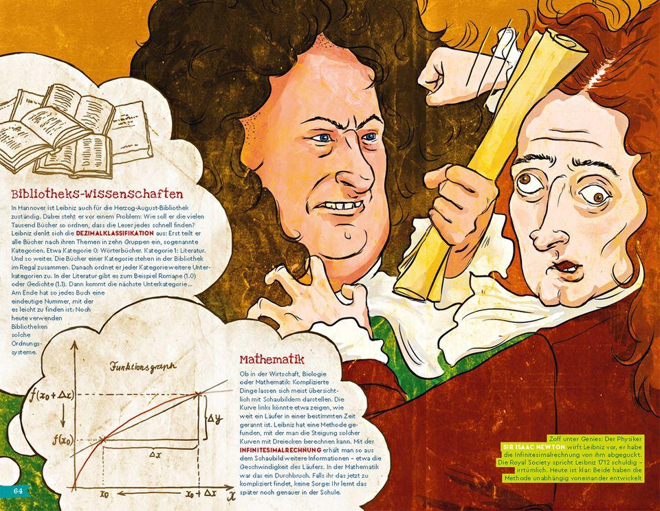 Isaac Newton wirft Leibniz vor, er habe die Infinitesimalrechnung abgeguckt