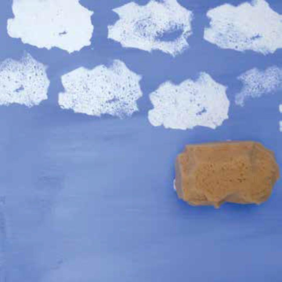 Wolken auf das Bild tupfen