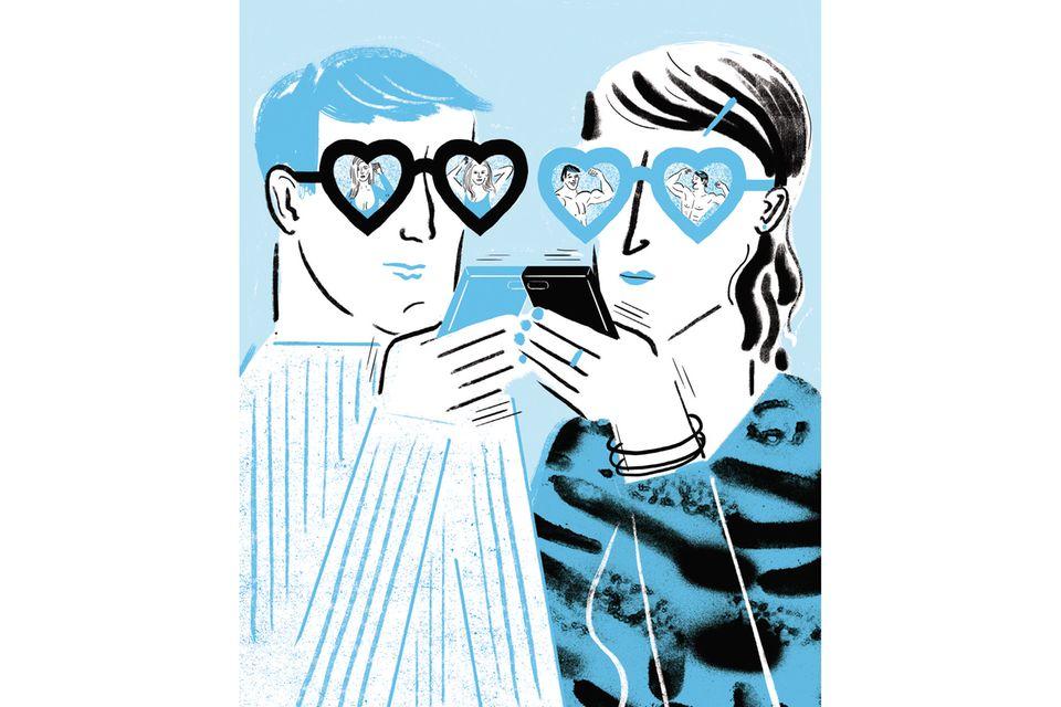 Partnerbörsen: Viele Männer und Frauen achten bei der Partnersuche im Netz vor allem auf das Aussehen und andere eher oberflächliche Kriterien – und schließen damit viele Menschen aus, die eigentlich viel besser zu ihnen passen