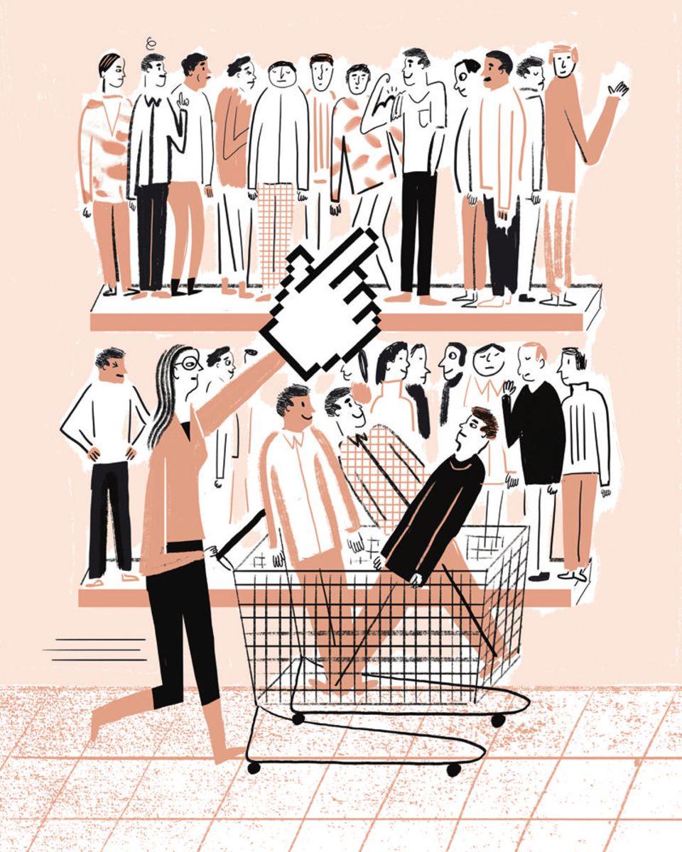 Partnerbörsen: Wie im Supermarkt können die Nutzer von Dating-Portalen ihren Wunschpartner nach seinen Eigenschaften auswählen. Viele entwickeln dabei eine regelrechte Shoppingmentalität, beobachten Soziologen