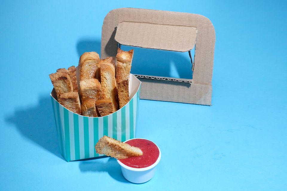 Süße Pommes mit Himbeer-Ketchup