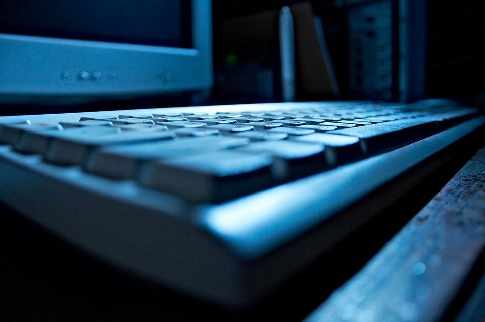 Computer Tastatur in blau