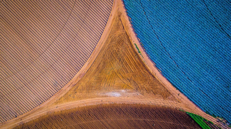 Felder bilden ein Dreieck
