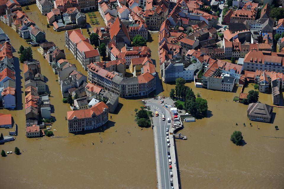 Überschwemmung in Sachsen, 2013