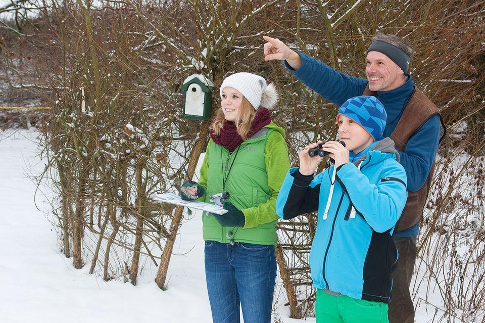 Vogelbeobachtung im Winter für den NABU