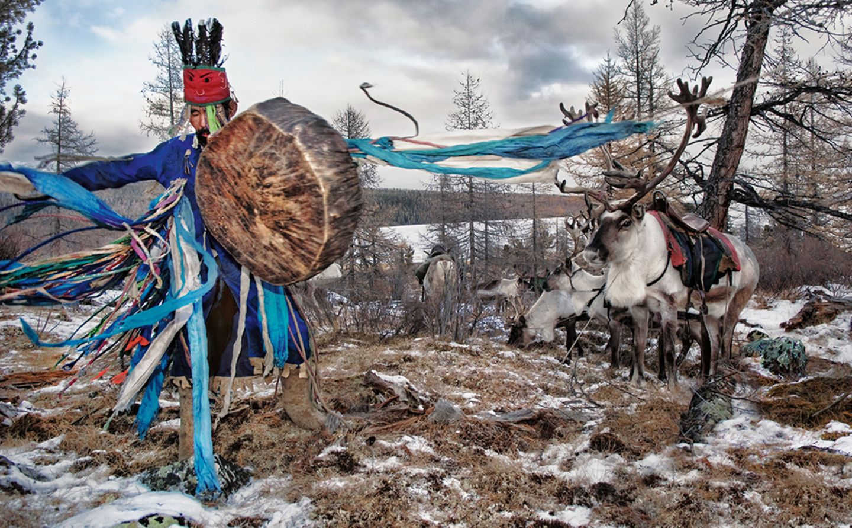Dancing shaman II, West Taiga, Hovsgol Province, Mongolia, 2006