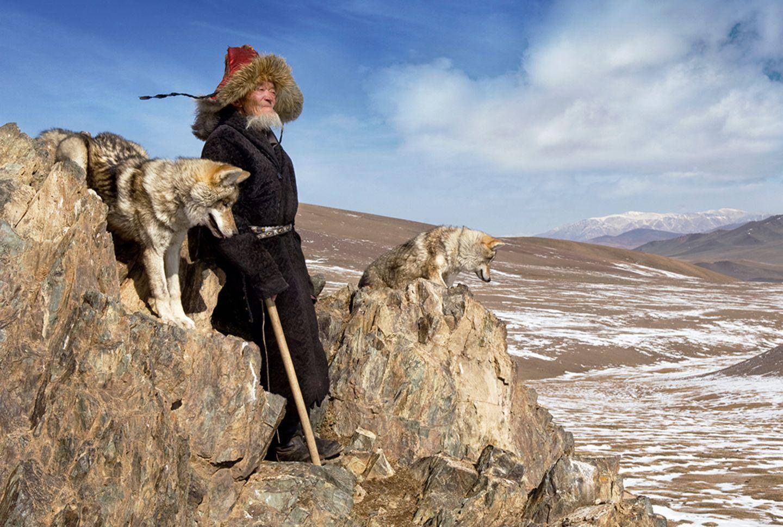 Taipak's wolves, Deloun Highlands, Olgii Province, Mongolia, 2009