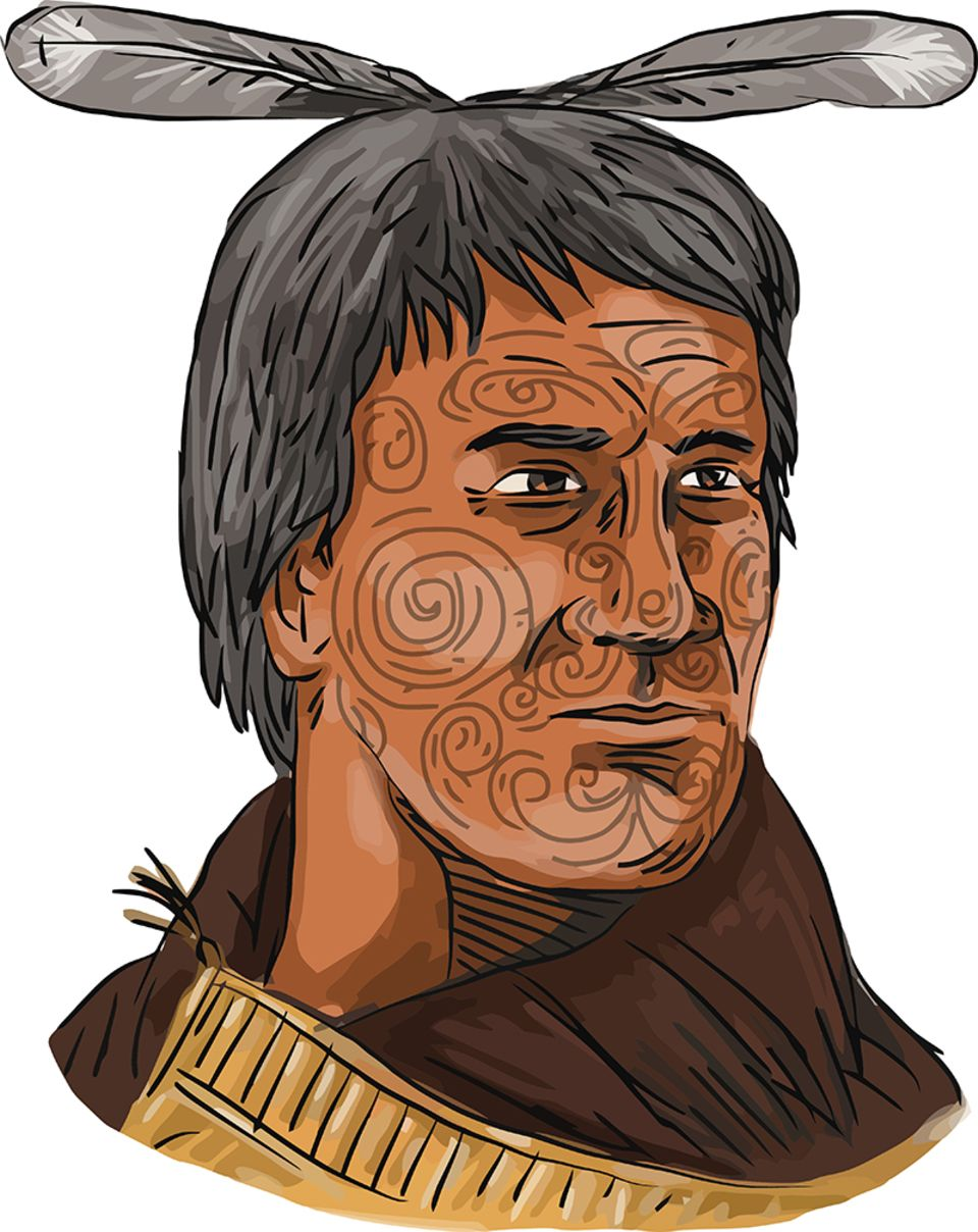 Tätowierter Maori