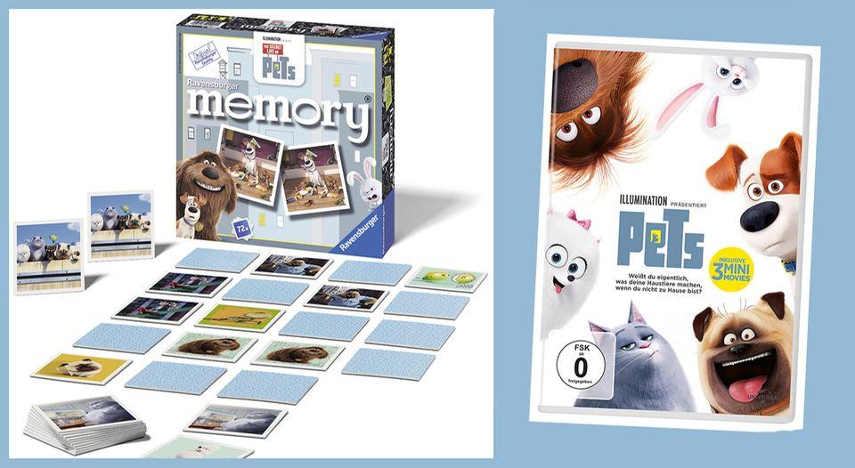 PETS Memory und DVD