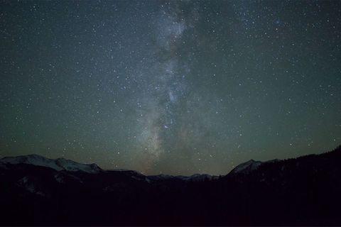 Milchstraße am Himmel über Colorado