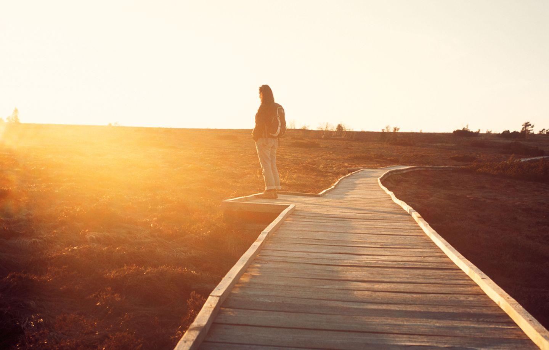 Spaziergang in der Sonne
