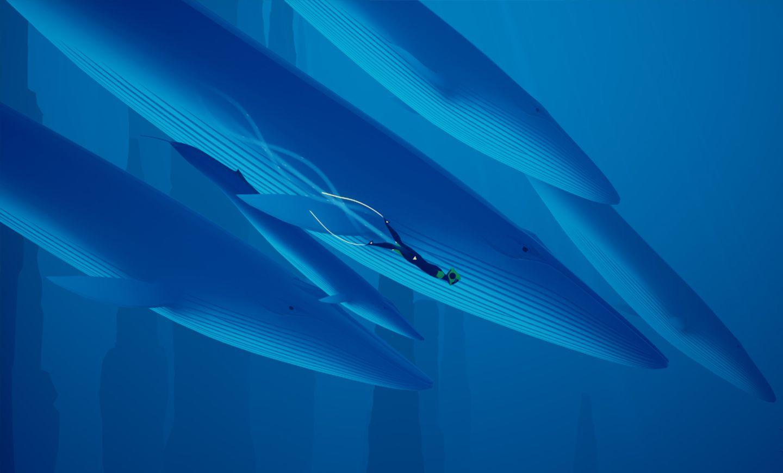 Abzu taucht mit Walen