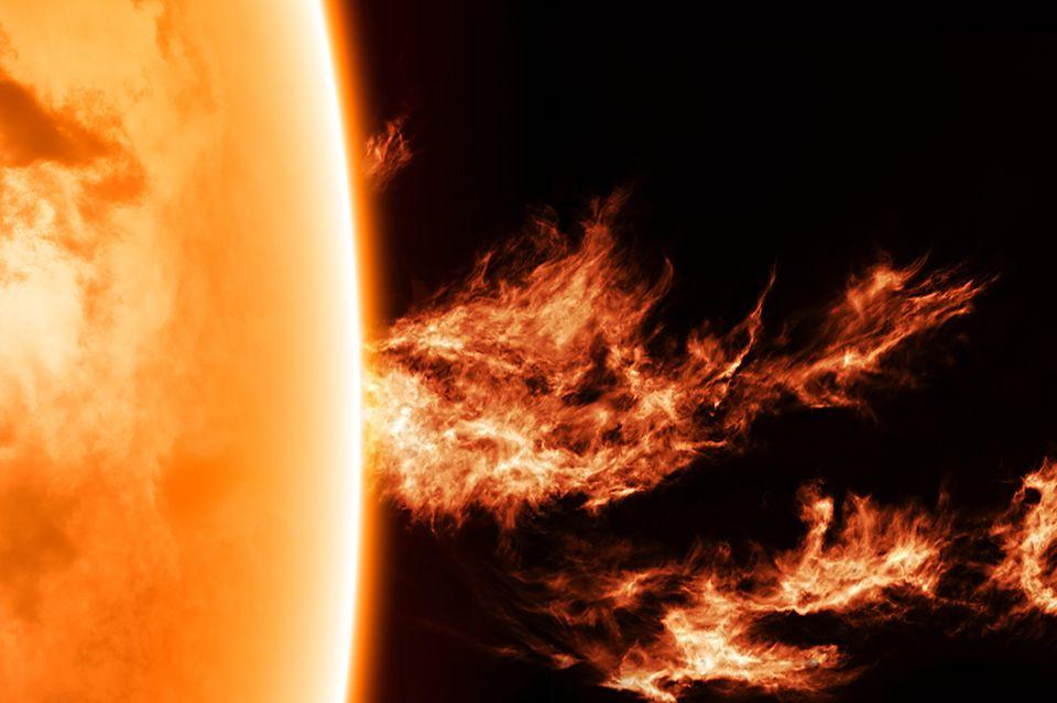 Der Aufbau der Sonne im All