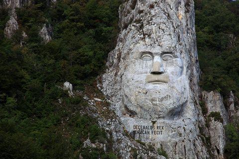 Die Statue des Dakerkönigs Decebalus
