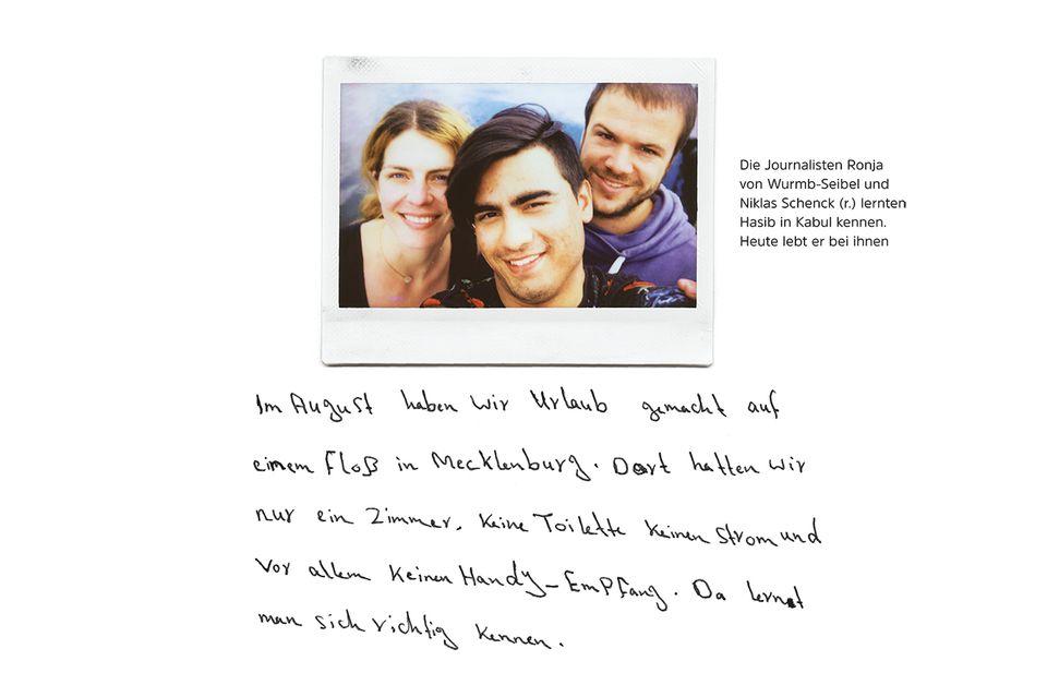 Hasib, Ronja von Wurmb-Seibel und Niklas Schenck