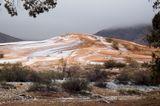 Schneefall, Sahara
