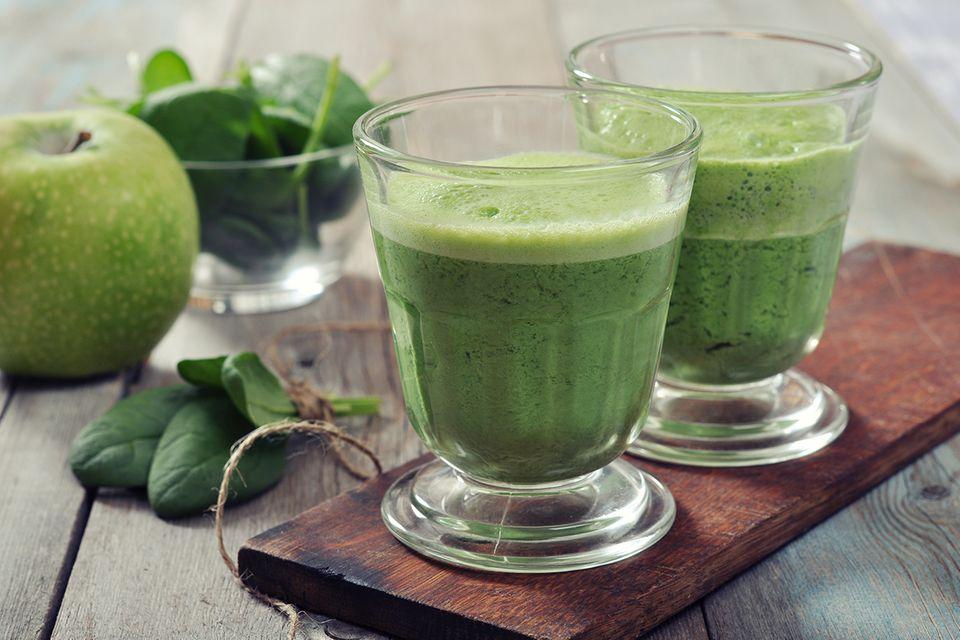 Grüner Apfel-Spinat Smoothie