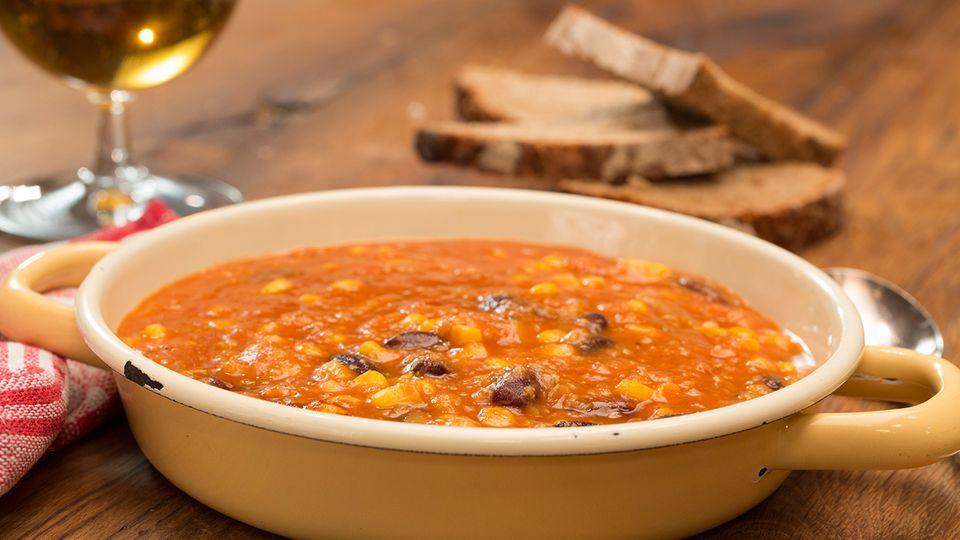 Chili sin carne Rezept