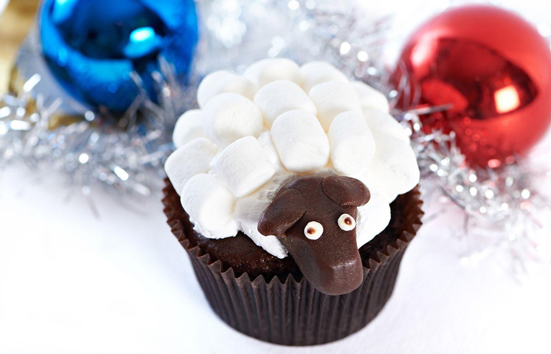Cupcake-Schaf mit Marshmallows
