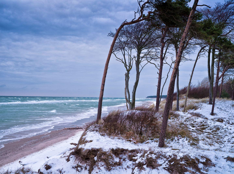 Wintertag am Darsser Weststrand,