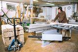 Schlittenbau in der Werkstatt
